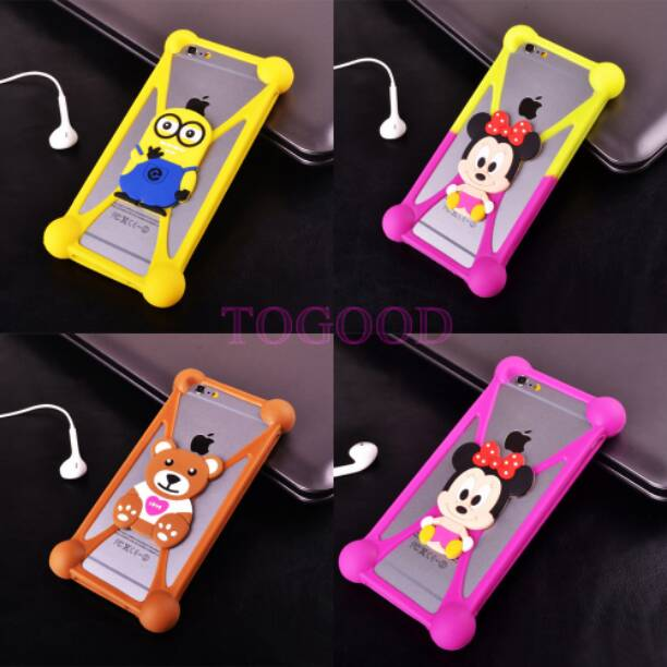 big sale d05ef 24bee Universal stretchable rubber back cover