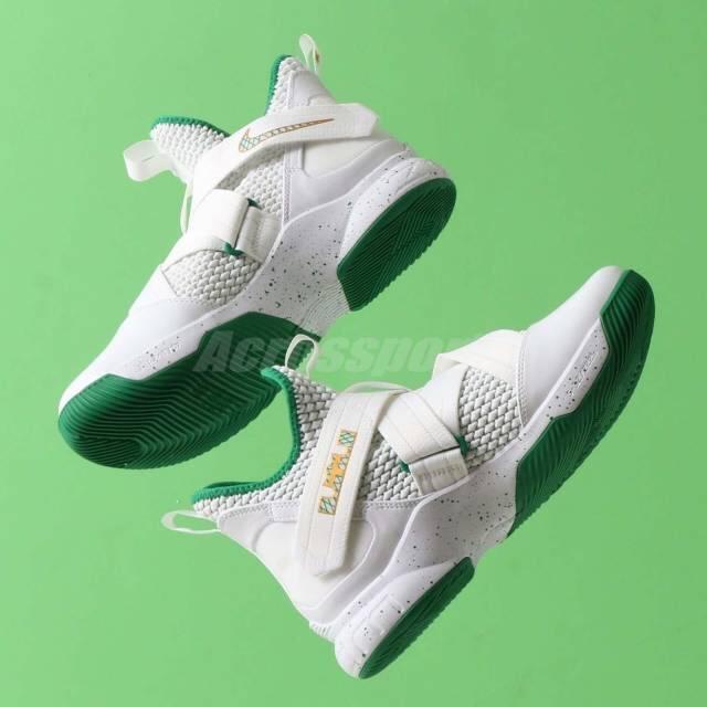sports shoes 784fd ec5c9 Nike✔️lebron soldier 12 white green
