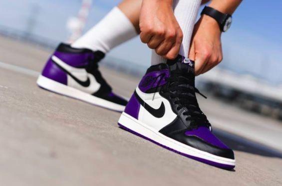 Retro Jordan High Black Court Purplesail Nike✔️air 1 Og N80kXwOnP