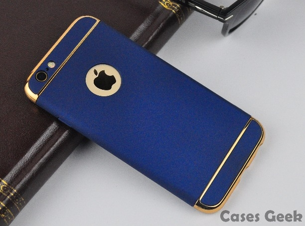 purchase cheap 31e66 bb495 iPhone 6/s Plus Matte Finish Gold 3 in 1 Navy Blue| Chrome Plating