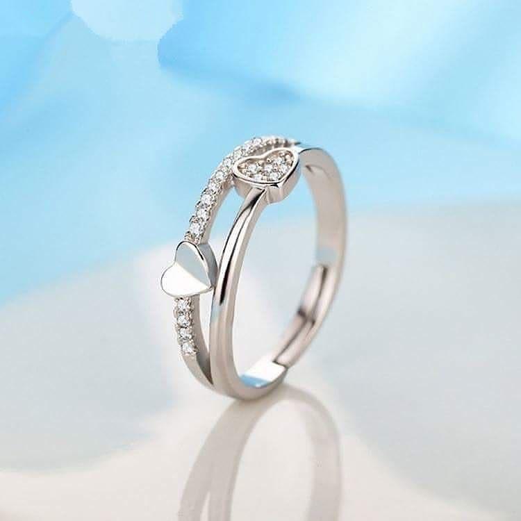 ffc38e110ef0b Heart Layered Silver Ring ( Original Silver )
