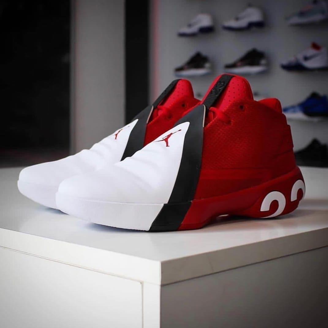 jordan 23 shoes red and white